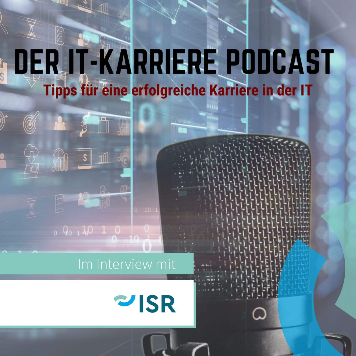 Podcast mit ISR Logo